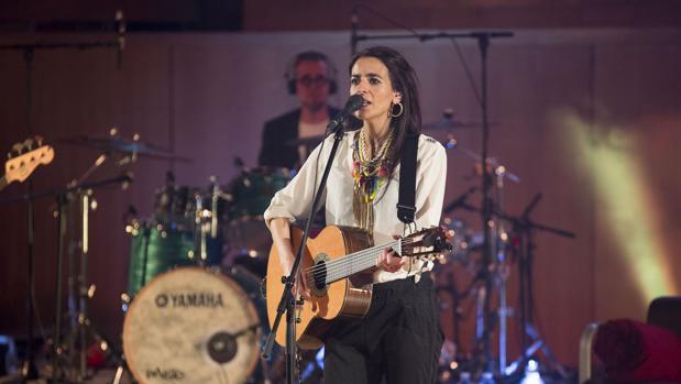 La cantante Bebe, durante un concierto reciente