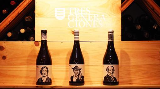 Los tres vinos bajo la marca Tres Generaciones