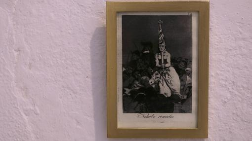 Un penitenciado con sambenito en un grabado de Goya