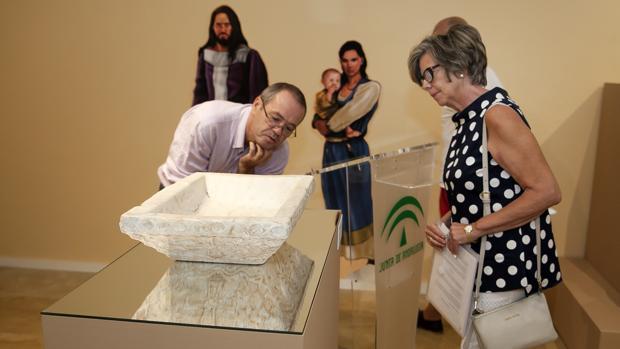 La pila de bautismo visigoda, cedida por el Museo Arqueológico Nacional