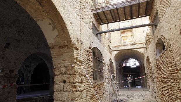 Interior del edificio del Pósito, en La Corredera