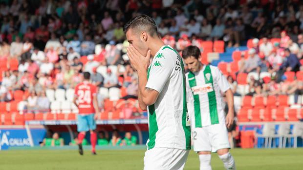 Sasa Markovic se lamenta durante el partido frente al CD Lugo