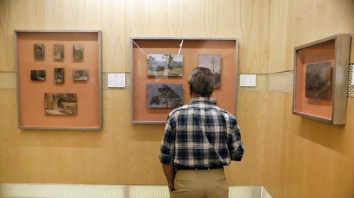 Cuadros en la exposición del Museo de Bellas Artes