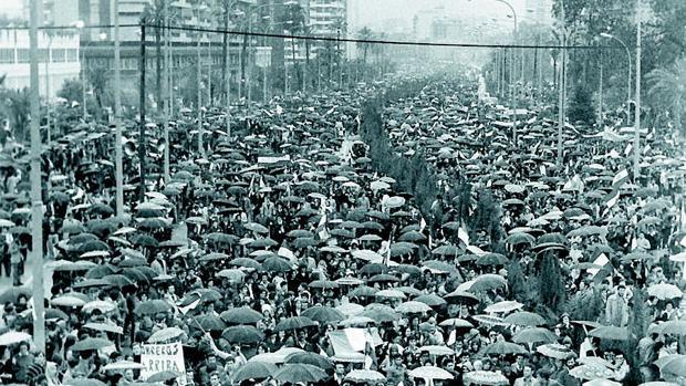 Imagen de la histórica manifestación en Málaga