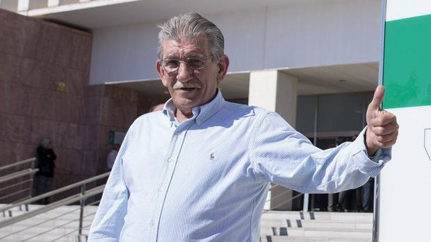 Miguel Montes Neiro en la ciudad de la Justicia de Málaga