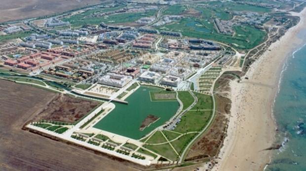 Urbanización Costa Bellena, en Chipiona, donde la Junta venderá cuatro parcelas