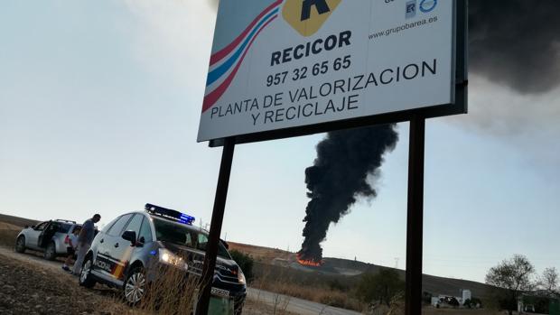 Incendio en la planta Recicor