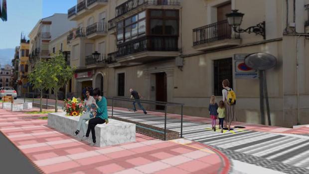 Infofrafía sobre cómo quedará la calle Martín Belda tras las obras