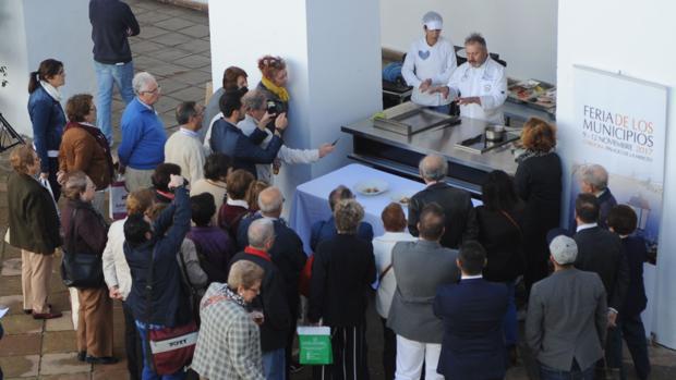 Demostración de cocina en directo a cargo de Matías Vegas, de Cañete de las Torres