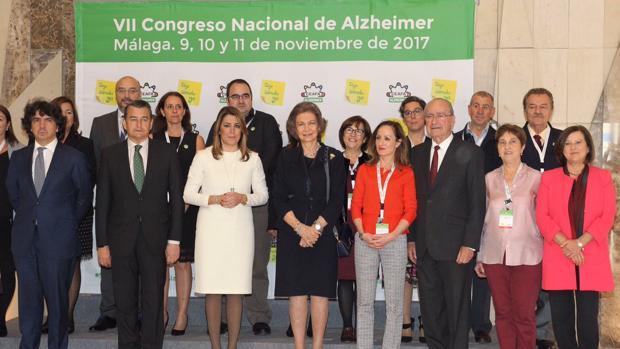Doña Sofía inaugura en Málaga el VII Congreso Nacional de Alzheimer