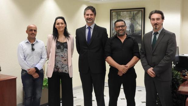 Representantes de Cajasur, Fepamic y Autismo Córdoba