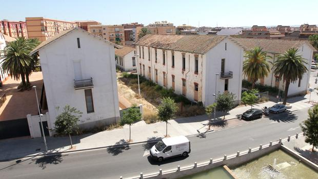 Pabellones abandonados del antiguo hospital militar