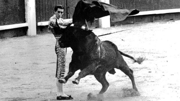 Manolete, durante una corrida en Madrid