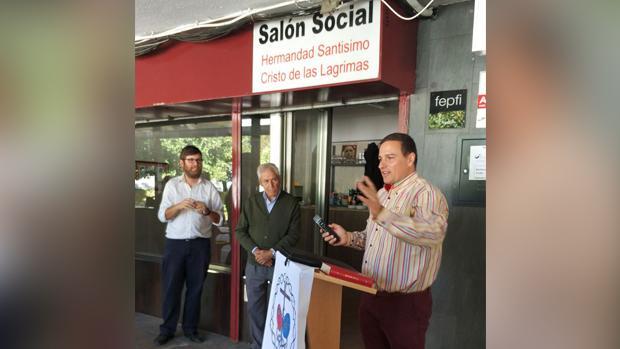 Acto de inauguración del nuevo salón social