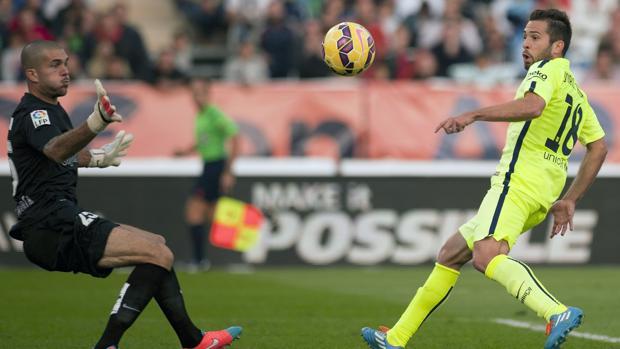 El agente abandonó su puesto para ver el Almería-Barcelona de noviembre de 2014