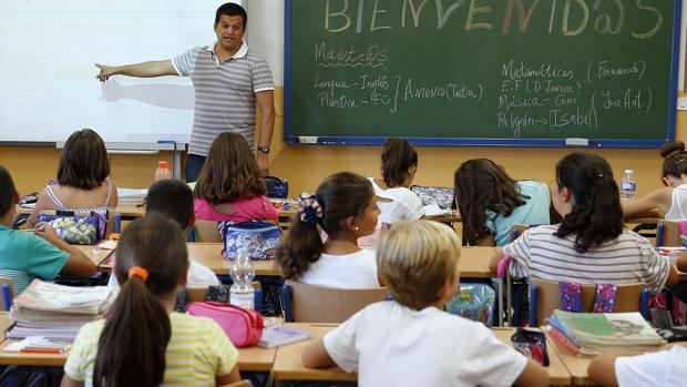 Una clase de un colegio de Málaga
