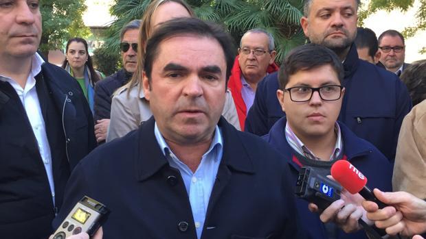 Miguel Moreno, durante su comparecencia ante los medios de comunicación.