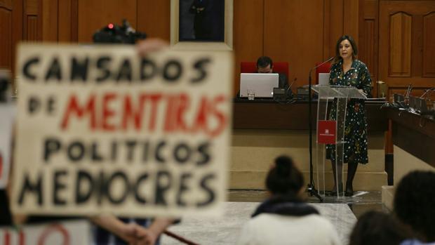 Isabel Ambrosio, en su intervención en el debate del estado de la ciudad