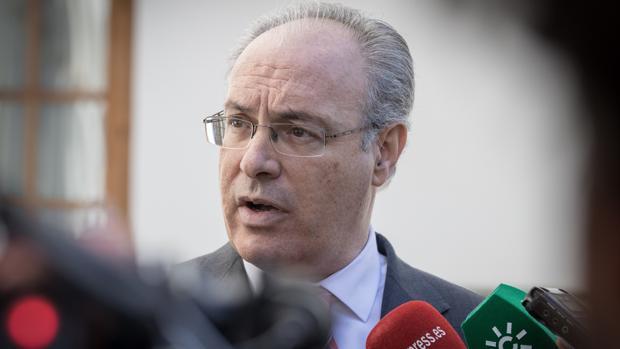 El presidente del Parlamento Andaluz, Juan Pablo Durán, este jueves