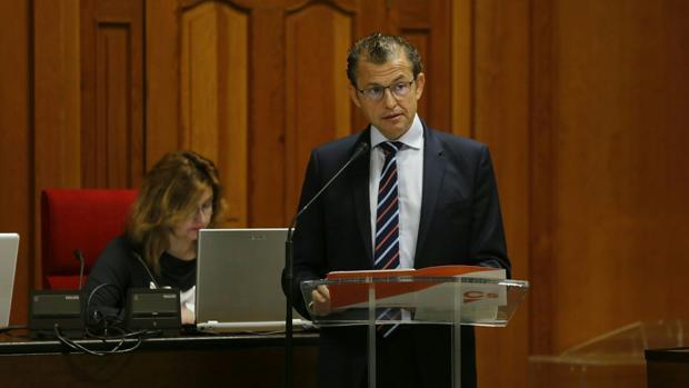 El portavoz de Ciudadanos, David Dorado, durante su intervención