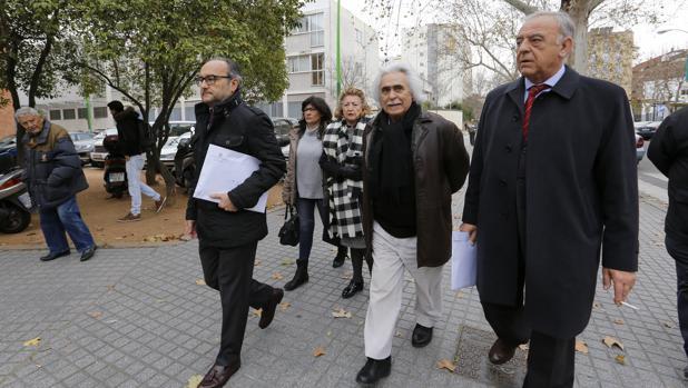 Rafael Gómez sale de los juzgados tras conocer la sentencia que le conden a cinco años y tres meses