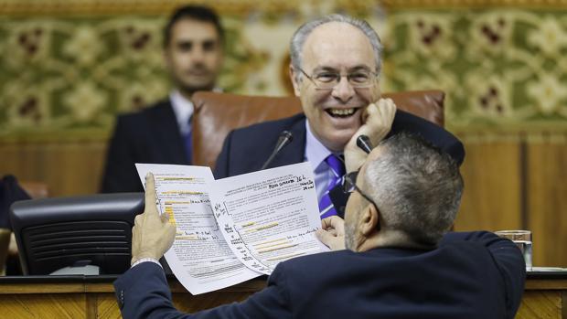 Juan Pablo Durán, en el Parlamento de Andalucía