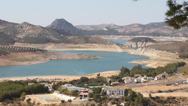 Situación del pantano de Iznájar tras la falta de lluvias