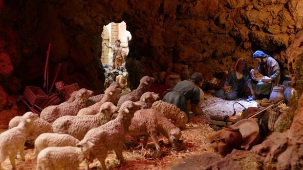 Detalle del nacimiento en el belén de San Juan de Dios