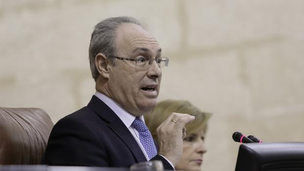 Juan Pablo Durán en el Parlamento Andaluz
