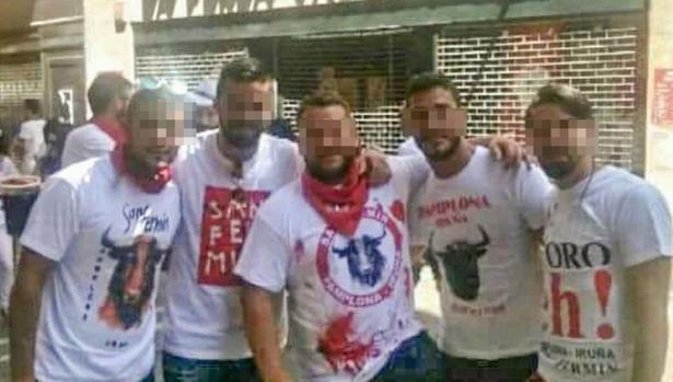 El grupo conocido como La Manada en 2016