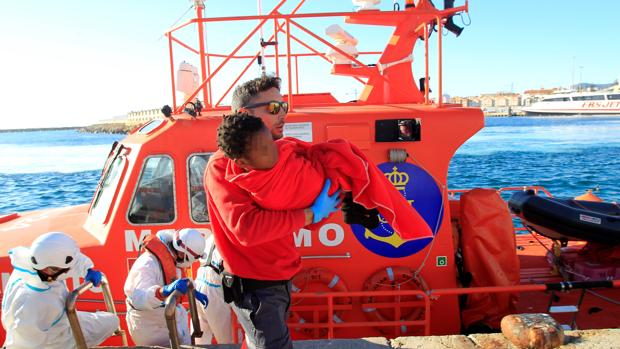 Rescate este pasado fin de semana de inmigrantes llegados a Tarifa