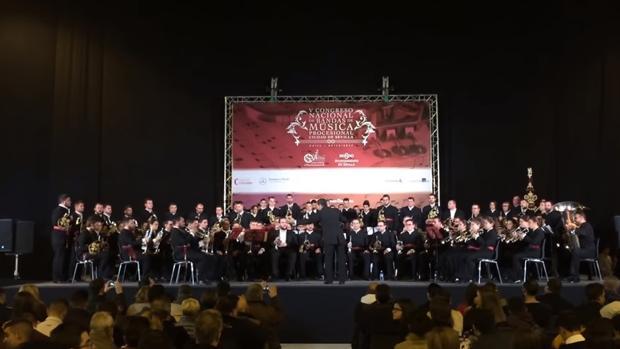 Actuación de Coronación de Espinas, en Sevilla