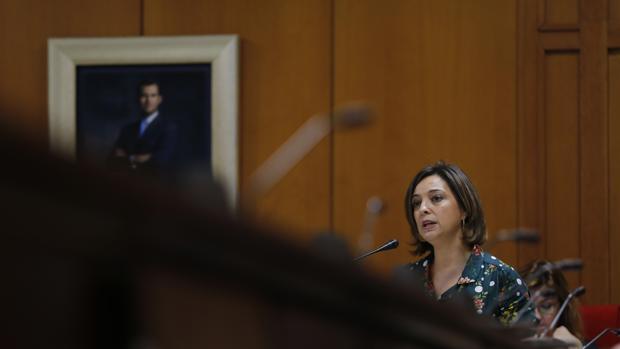 La alcaldesa, Isabel Ambrosio, en el último debate del estado de la ciudad