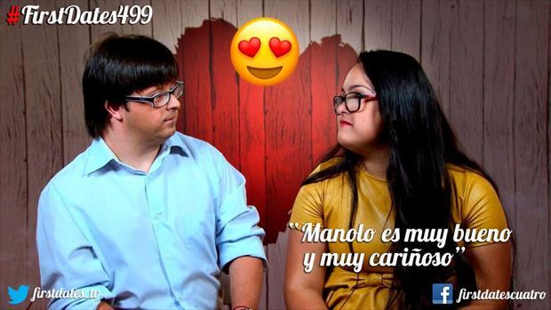 """Los jóvenes Manolo y Sara en su primera cita en el programa """"First Dates"""""""