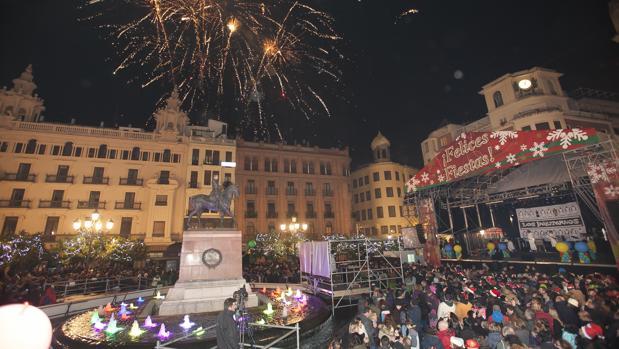 La Plaza de las Tendillas durante una fiesta de fin de año