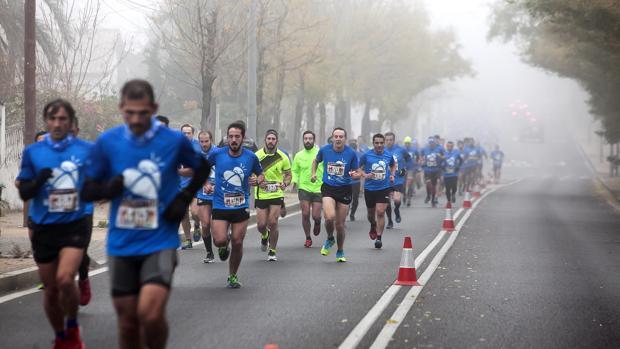 Los atletas durante la Subida a las Ermitas de Córdoba