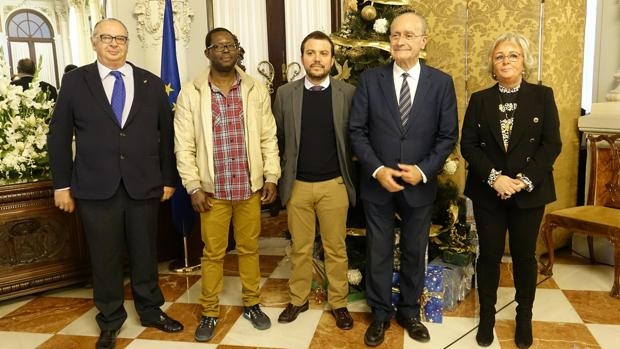 Emilio Betés, Brahima Traore, Fernando del Valle, Francisco de la Torre y Teresa Porras