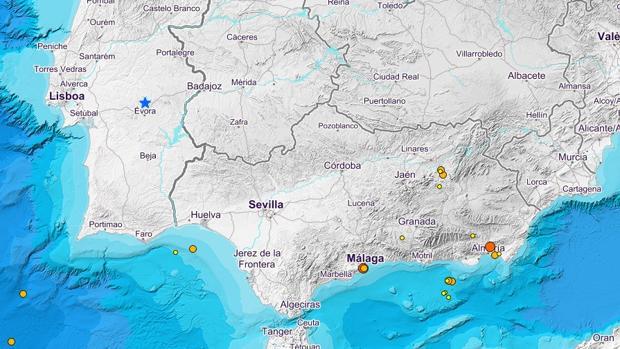 últimos terremotos en la zona sur según el Instituto Geográfico Nacional.