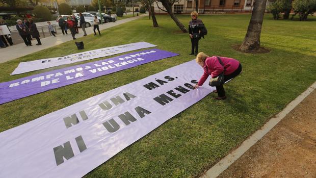 Carteles de la manifestación contra la violencia machista en Córdoba