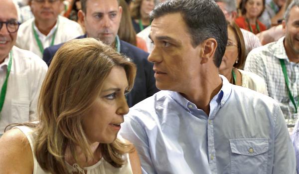 Susana Díaz y Pedro Sánchez en la última ocasión en la que estuvieron juntos, en julio de 2017