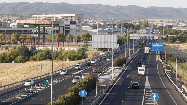 Trayecto de la A4 en que se ha producido el accidente a su paso por Córdoba