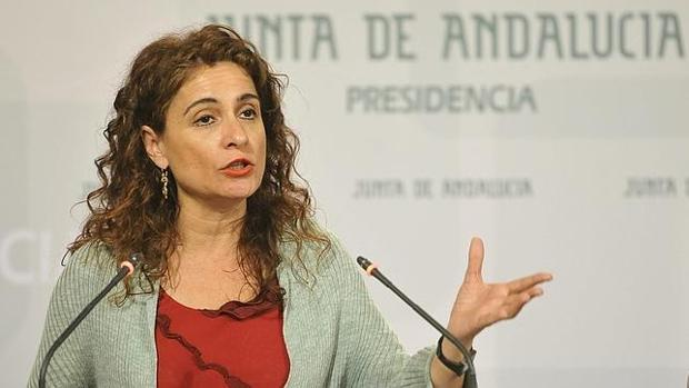 María Jesús Montero, consejera de Hacienda de la Junta