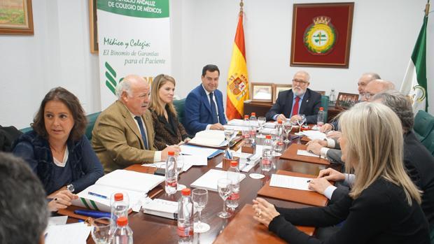 Reunión del PP con representantes del Consejo Andaluz de Colegios de Médicos