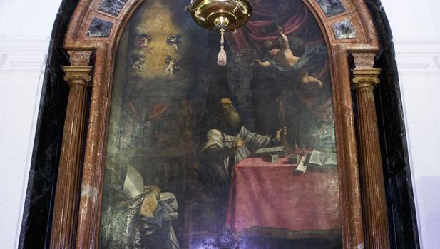Lienzo de San Eulogio en la Mezquita-Catedral
