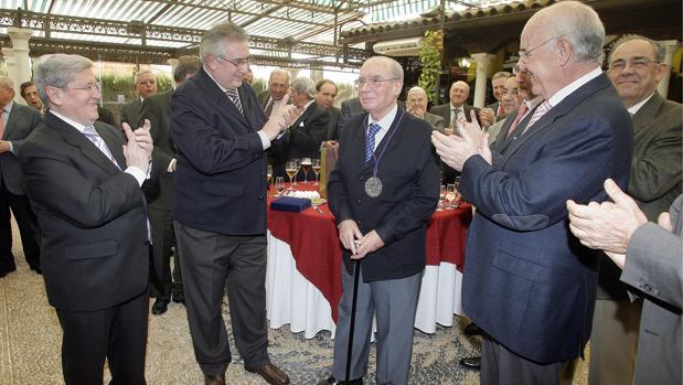 García Marín, durante un homenaje que se le realizó en 2011