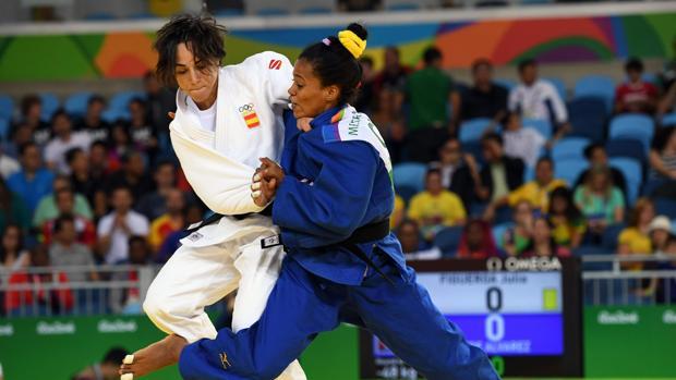 Julia Figueroa durante un combate en los Juegos Olímpicos de Río de Janeiro de 2016