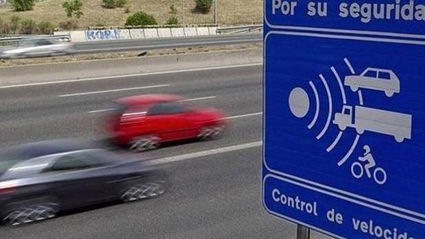 Control de velocidad en una carretera