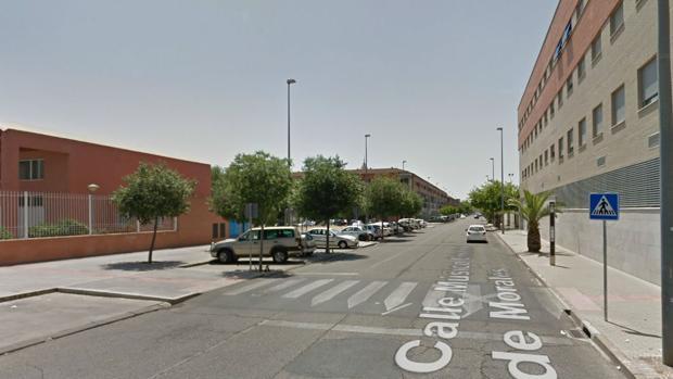 Calle Músico Cristóbal de Morales, donde se ha producido el atropello