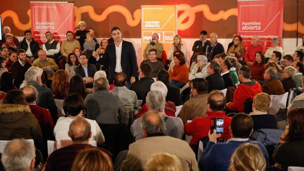 Pedro Sánchez, en el acto del jueves en Granada