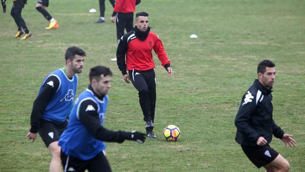Jorge Romero durante una sesión de trabajo en la Ciudad Deportiva